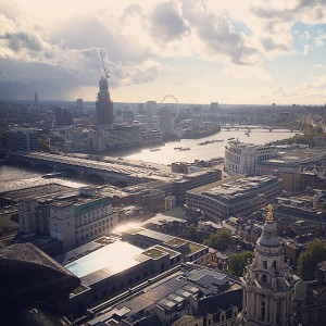 The view of London from atop St. Paul's Cathedral