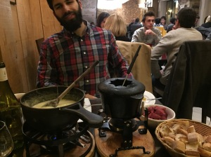Traditional fondue. There are no words for how delicious this meal was...