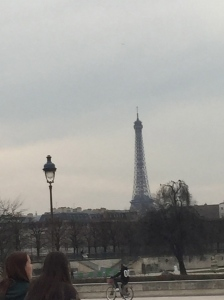 Sad picture of the Eiffel Tower