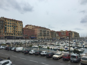 The port by our house in Nice. Boats as far as the eye can see!