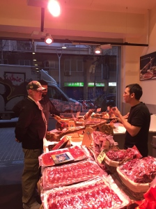 The vast meat selection at the local charcuterie