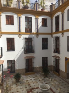 View of our courtyard in Sevilla