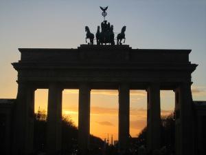 Brandenburg Gate originally built under Prussian rule, but later served as a key landmark dividing East and West Berlin.