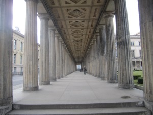 Entrance to the National Gallery on Museum Island, Berlin