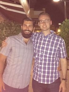 Kuiper posing with Dan's beard