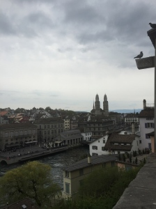 One of the two Zurich rivers
